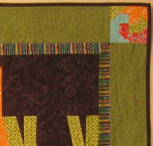 Quilting detial of elephants